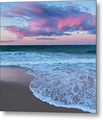Sunset East Square Metal Print by Bill Wakeley