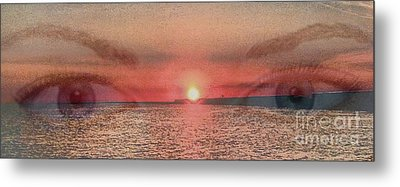 Metal Print featuring the photograph Sunset Eyes Inspirational Art By Saribelle Rodriguez by Saribelle Rodriguez