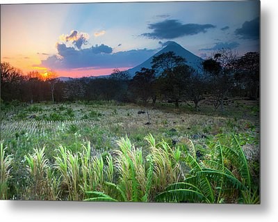 Sunset Falls Behind The Concepcion Metal Print by Micah Wright