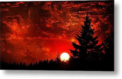 Sunset Fantasy I Metal Print