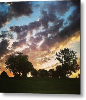Metal Print featuring the photograph Sunset Federal Hill by Toni Martsoukos