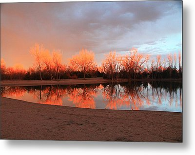 Sunset Fire Metal Print by Alicia Knust
