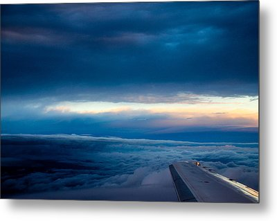 Metal Print featuring the photograph Sunset From Above The Clouds by Cathy Donohoue