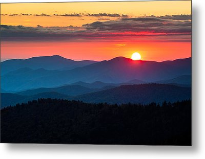 Sunset From Clingman's Dome - Great Smoky Mountains Metal Print