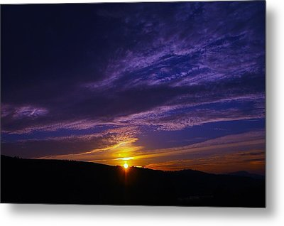 Sunset From Lyle Wa Metal Print by Jeff Swan