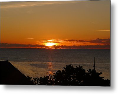 Sunset From Terrace - St. Lucia 2 Metal Print by Nora Boghossian