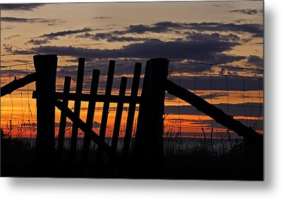Metal Print featuring the photograph Sunset Gate by Inge Riis McDonald