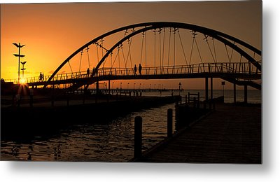 Metal Print featuring the photograph Sunset Glow by Kim Andelkovic