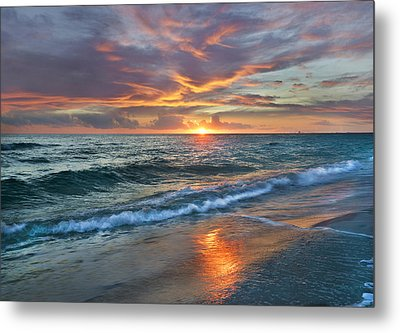Sunset Gulf Islands National Seashore Metal Print by Tim Fitzharris