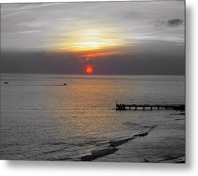 Metal Print featuring the photograph Sunset  by Haleh Mahbod