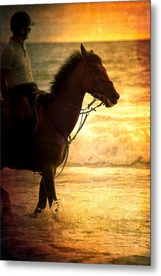 Sunset Horse Metal Print by Loriental Photography