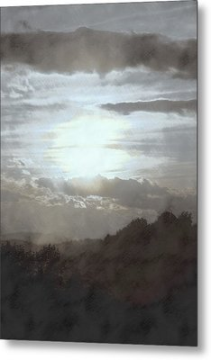 Sunset Impressions Over The Blue Ridge Mountains Metal Print by Photographic Arts And Design Studio