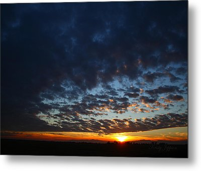Sunset In Blue Metal Print