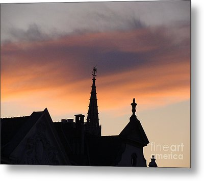 Sunset In Brussels Metal Print