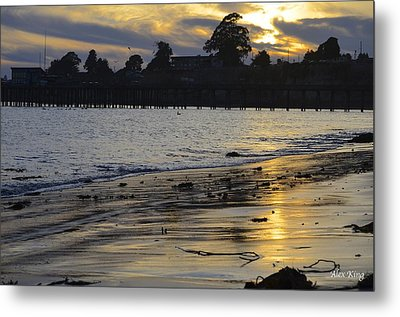 Sunset In Capitola Metal Print by Alex King