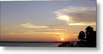 Sunset In Charleston Metal Print