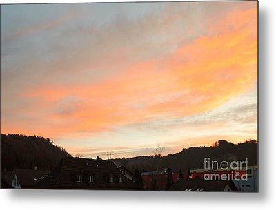 Metal Print featuring the photograph Sunset In December 1 by Felicia Tica