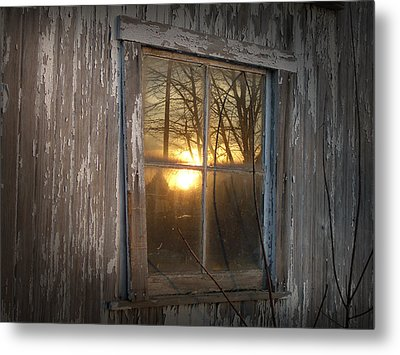 Metal Print featuring the photograph Sunset In Glass by Cynthia Lassiter