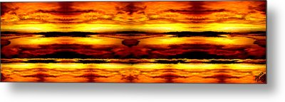 Sunset In Heaven Metal Print