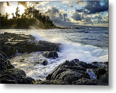 Big Island - Sunset In Hilo Metal Print