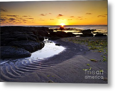 Metal Print featuring the photograph Sunset In Iceland by Gunnar Orn Arnason