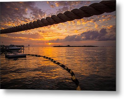 Sunset In Key West Metal Print by Maria Robinson