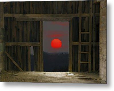 Sunset In Leraysville Metal Print by David Simons