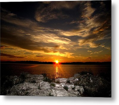 Sunset In Maine Metal Print by Donnie Freeman