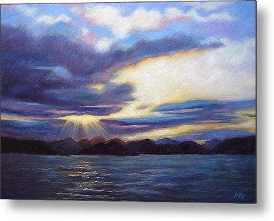 Sunset In Norway Metal Print by Janet King
