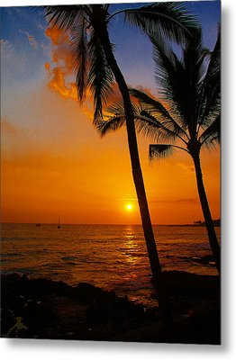 Sunset In Paradise Metal Print by Athala Carole Bruckner