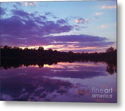 Sunset In Purple Metal Print by R McLellan