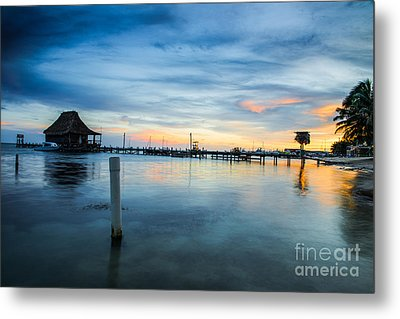 Sunset In San Pedro Metal Print