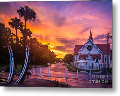 Metal Print featuring the photograph Sunset In Sandgate by Peta Thames