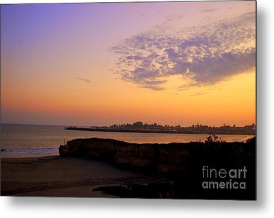Sunset In Santa Cruz California  Metal Print by Garnett  Jaeger