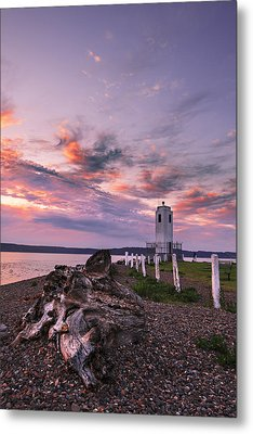 Sunset In Tacoma Metal Print