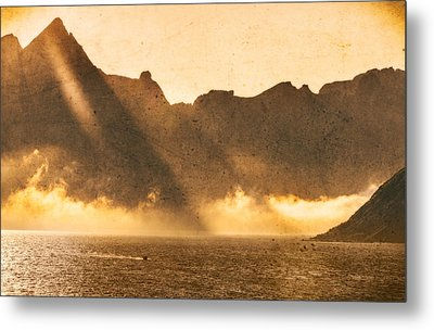 Metal Print featuring the photograph Sunset In The Arctic  by Maciej Markiewicz