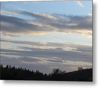 Sunset In The Foothills Metal Print by Debra Madonna