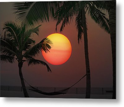 Sunset In The Keys Metal Print by Bill Cannon