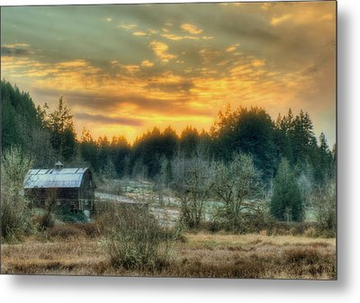 Metal Print featuring the photograph Sunset In The Valley by Jeff Cook