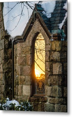 Sunset In The Window Metal Print