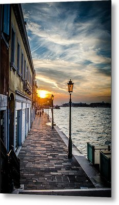 Sunset In Venice Metal Print by Stefan Hoareau