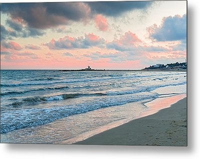 Sunset In Vilanova I La Geltru Near Barcelona Spain Metal Print