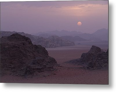 Sunset In Wadi Rum Jordan Metal Print by Alison Buttigieg