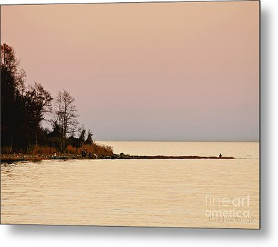 Sunset Into A Peaceful Life Metal Print by Carol F Austin