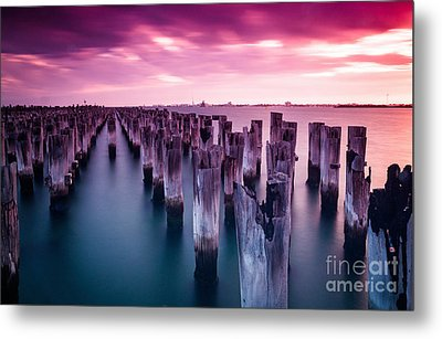 Sunset  Metal Print by Jan Wolf