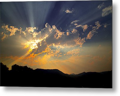 Metal Print featuring the photograph Sunset by Jim Snyder