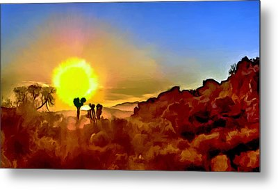 Sunset Joshua Tree National Park V2 Metal Print