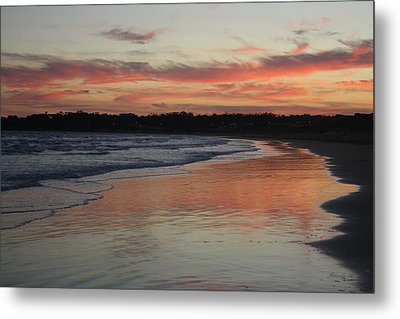 Metal Print featuring the photograph Sunset Kissing Shore II by Amanda Holmes Tzafrir