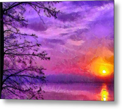 Sunset Lake Metal Print by Anthony Caruso