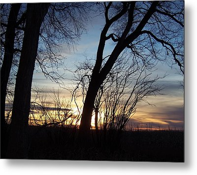Metal Print featuring the photograph Sunset 1 by Larry Campbell